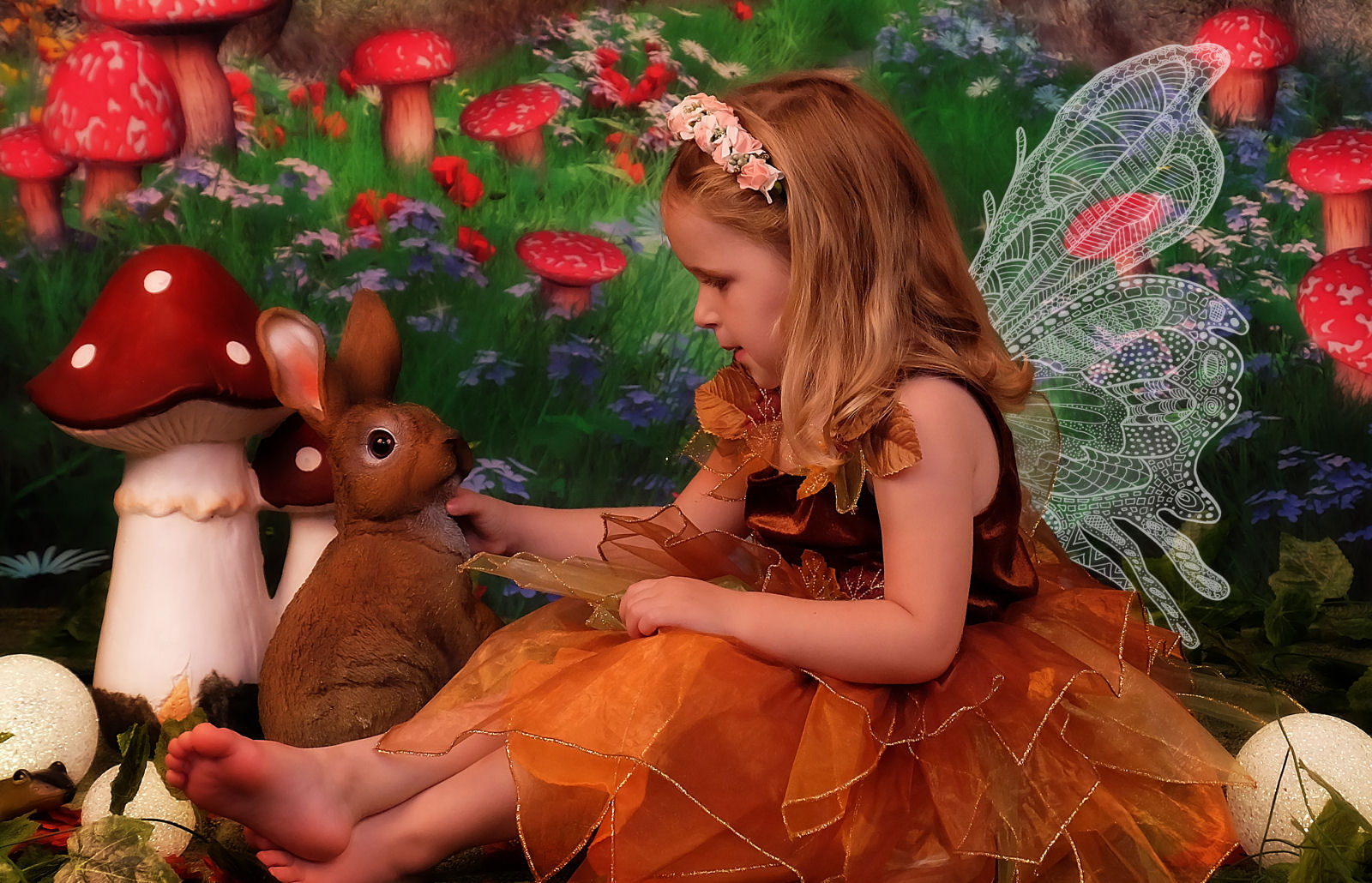 Image of girl dressed as a fairy